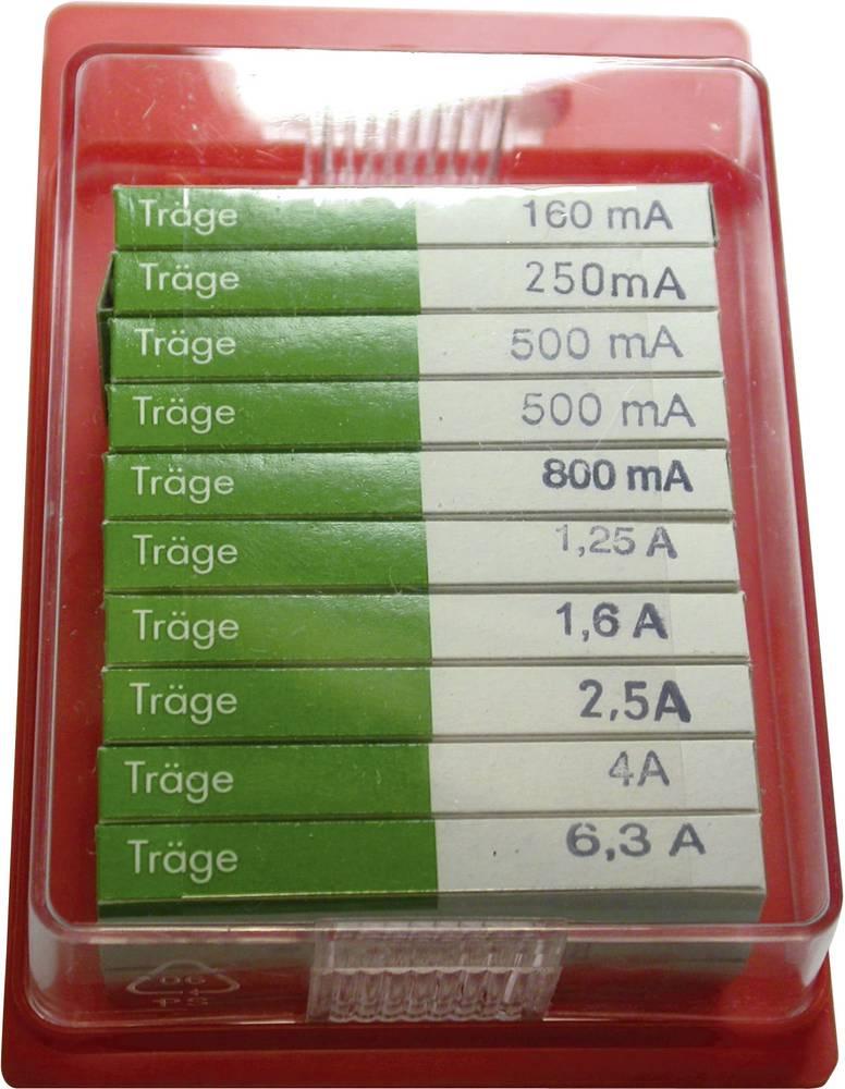 Finsikring-sortiment (Ø x L) 5 mm x 20 mm Træg -T- ESKA 122850 Indhold 100 stk