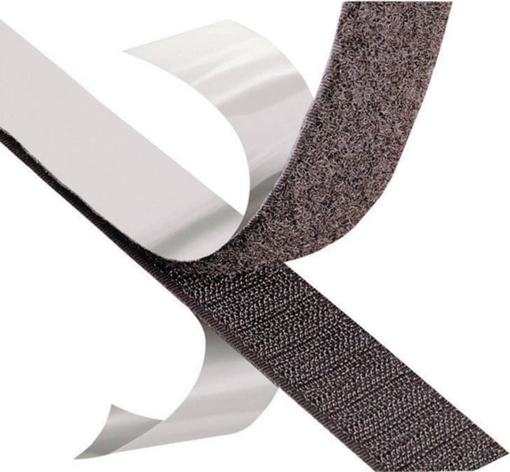 Čičak traka 3M Scotchmate SJ 3526N, roba na metar, širina: 50 mm, crne boje