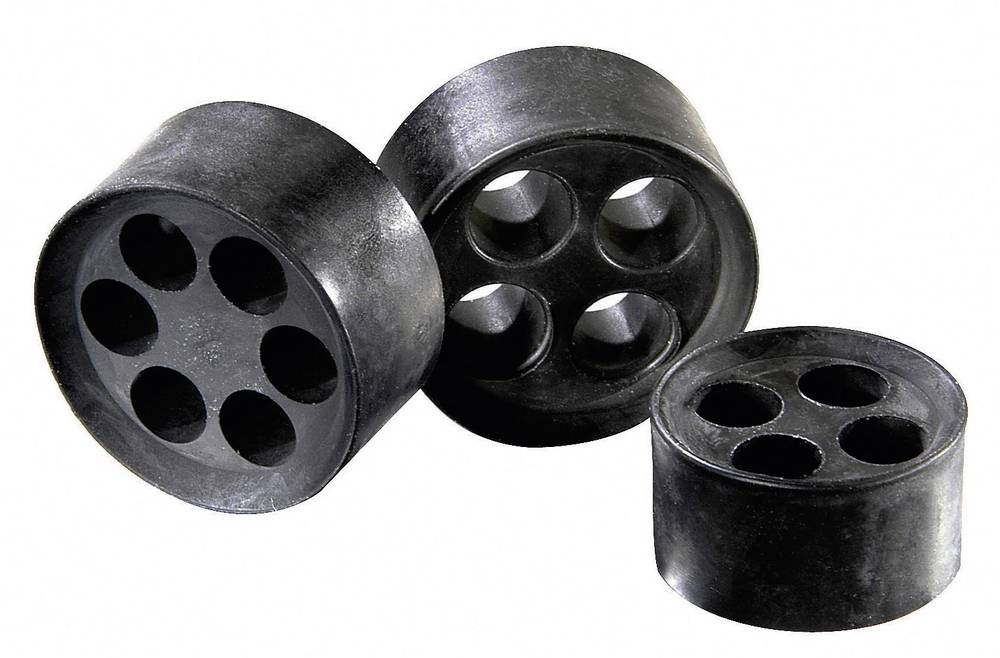 Tesnilni vložek za več kablov M32, elastomer črne barve Wiska MFD 32/01/115-01/085 1 kos