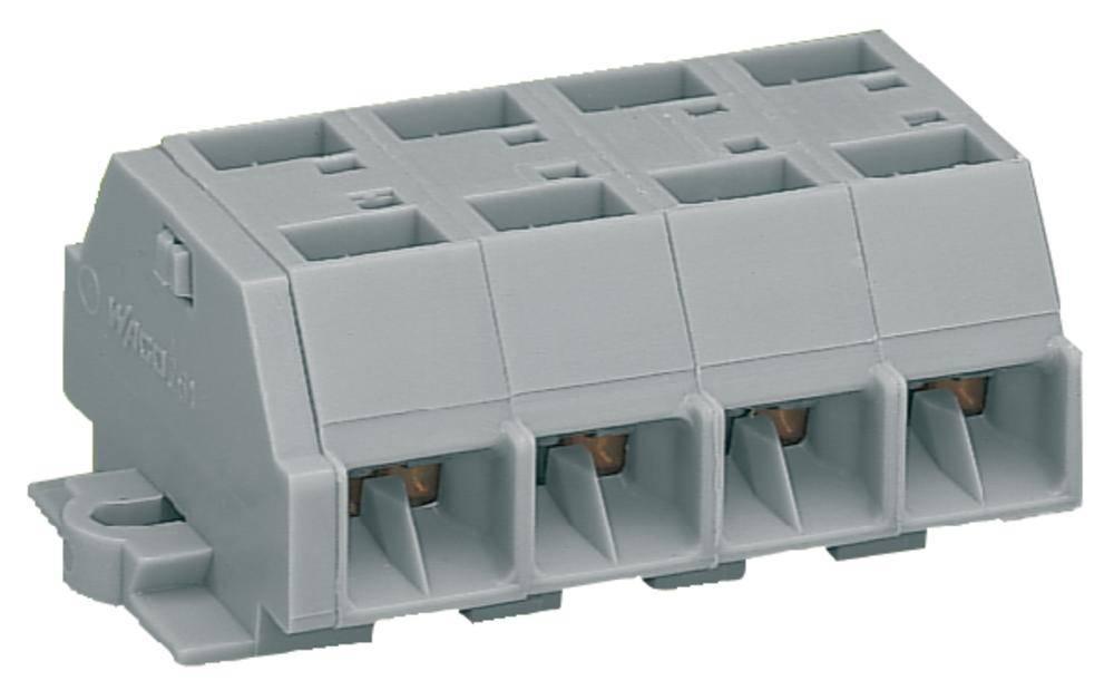 Klemmerække 10 mm Trækfjeder Belægning: L Grå WAGO 261-204 100 stk