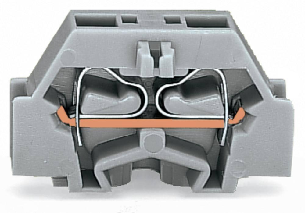Enkelt klemme 6 mm Trækfjeder Belægning: L Grå WAGO 261-323 200 stk