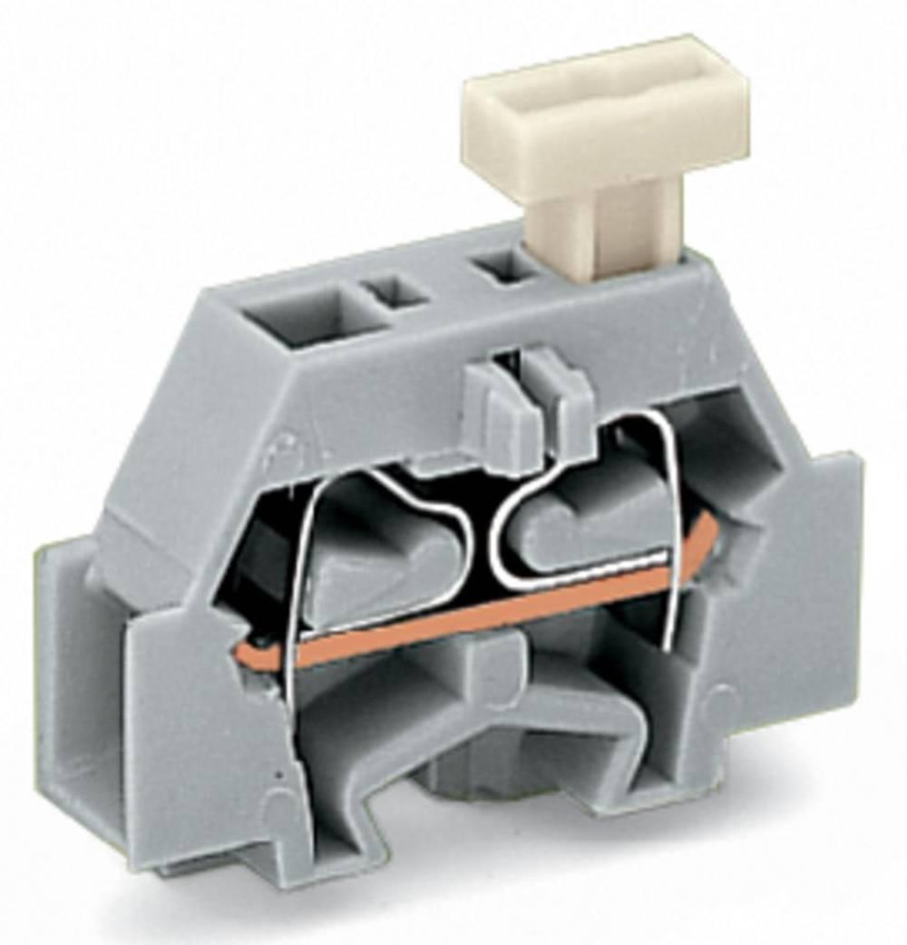 Enkelt klemme 6 mm Trækfjeder Belægning: L Grå WAGO 261-321/331-000 200 stk