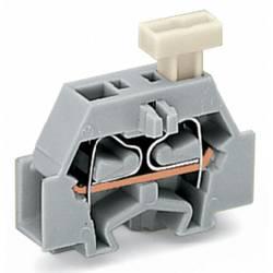 Enkelt klemme 6 mm Trækfjeder Belægning: L Grå WAGO 261-301/331-000 200 stk