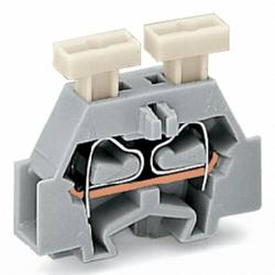 Enkelt klemme 6 mm Trækfjeder Belægning: L Grå WAGO 261-301/341-000 200 stk
