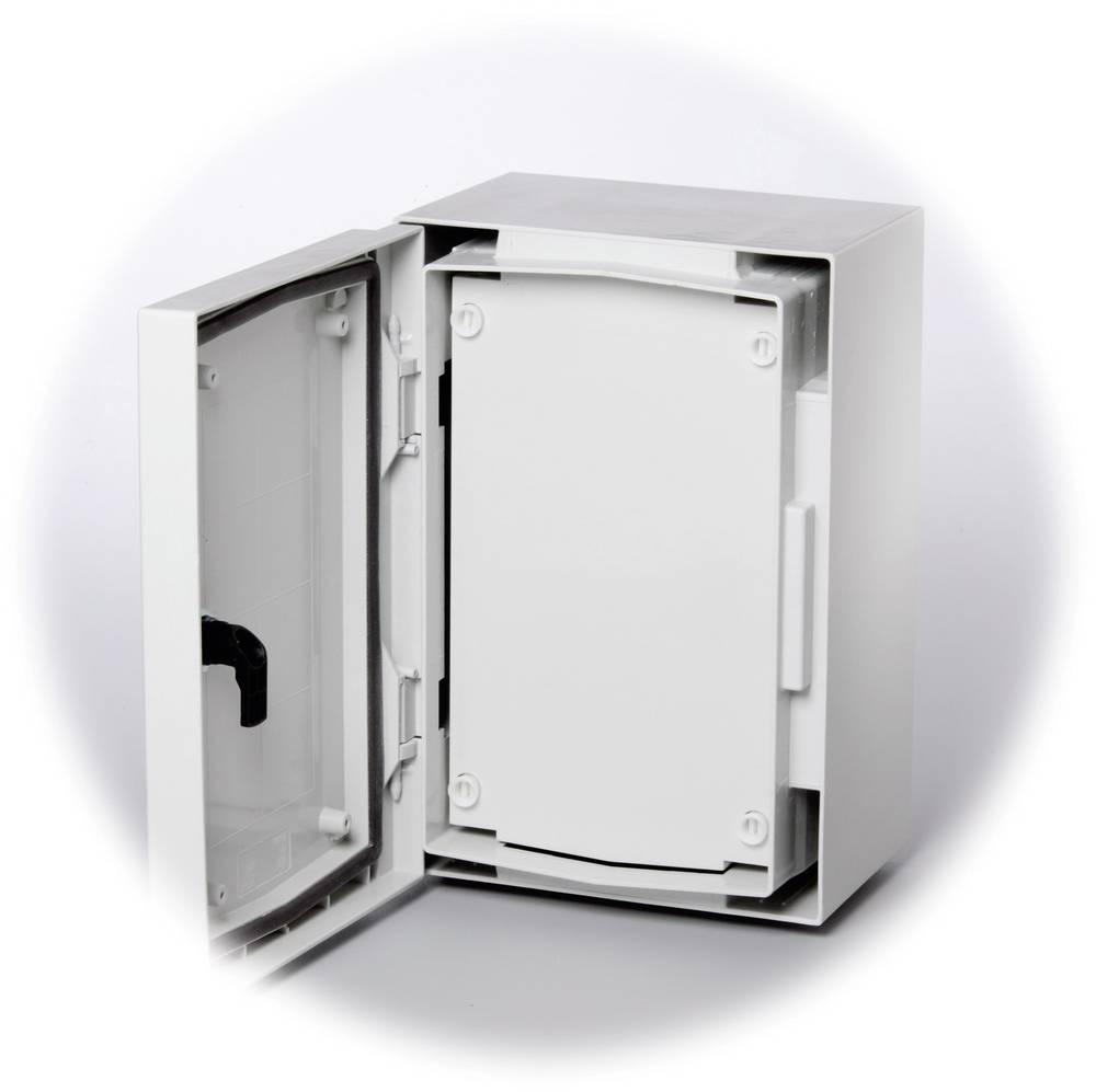 Frontplade Fibox FP 5040-D lukket (L x B) 479 mm x 362 mm Plast Grå (RAL 7035) 1 stk