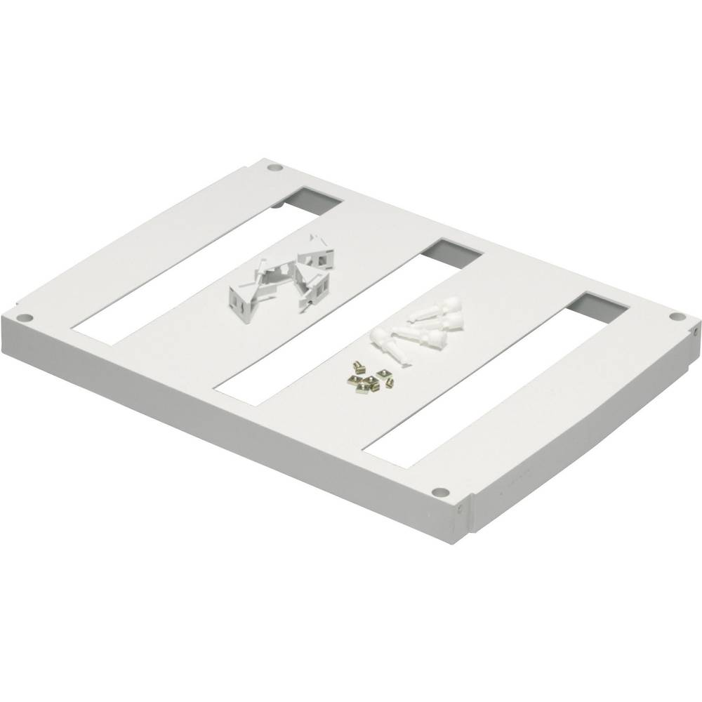 Frontplade Fibox FP 5040-3x18 med gennemføring (L x B) 479 mm x 362 mm Plast Grå (RAL 7035) 1 stk