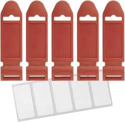 Ploščica za označevanje Labelthe Cable LTC 2721, 85 mm x 23mm, rdeče barve, 5 kosov Label the Cable