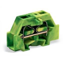 Enkelt klemme 6 mm Trækfjeder Belægning: Terre Grøn-gul WAGO 261-307 200 stk