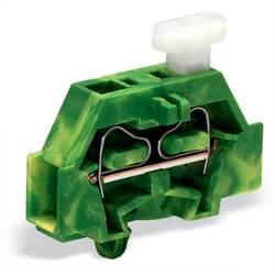 Enkelt klemme 6 mm Trækfjeder Belægning: Terre Grøn-gul WAGO 261-317/331-000 200 stk
