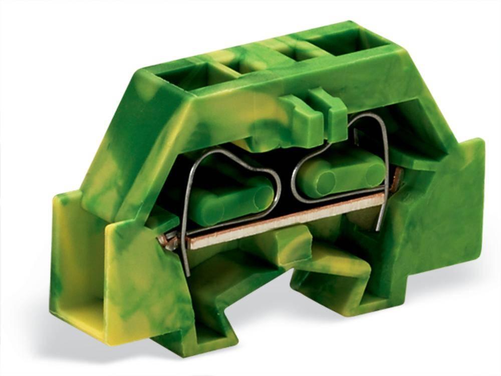 Enkelt klemme 6 mm Trækfjeder Belægning: Terre Grøn-gul WAGO 261-327 200 stk