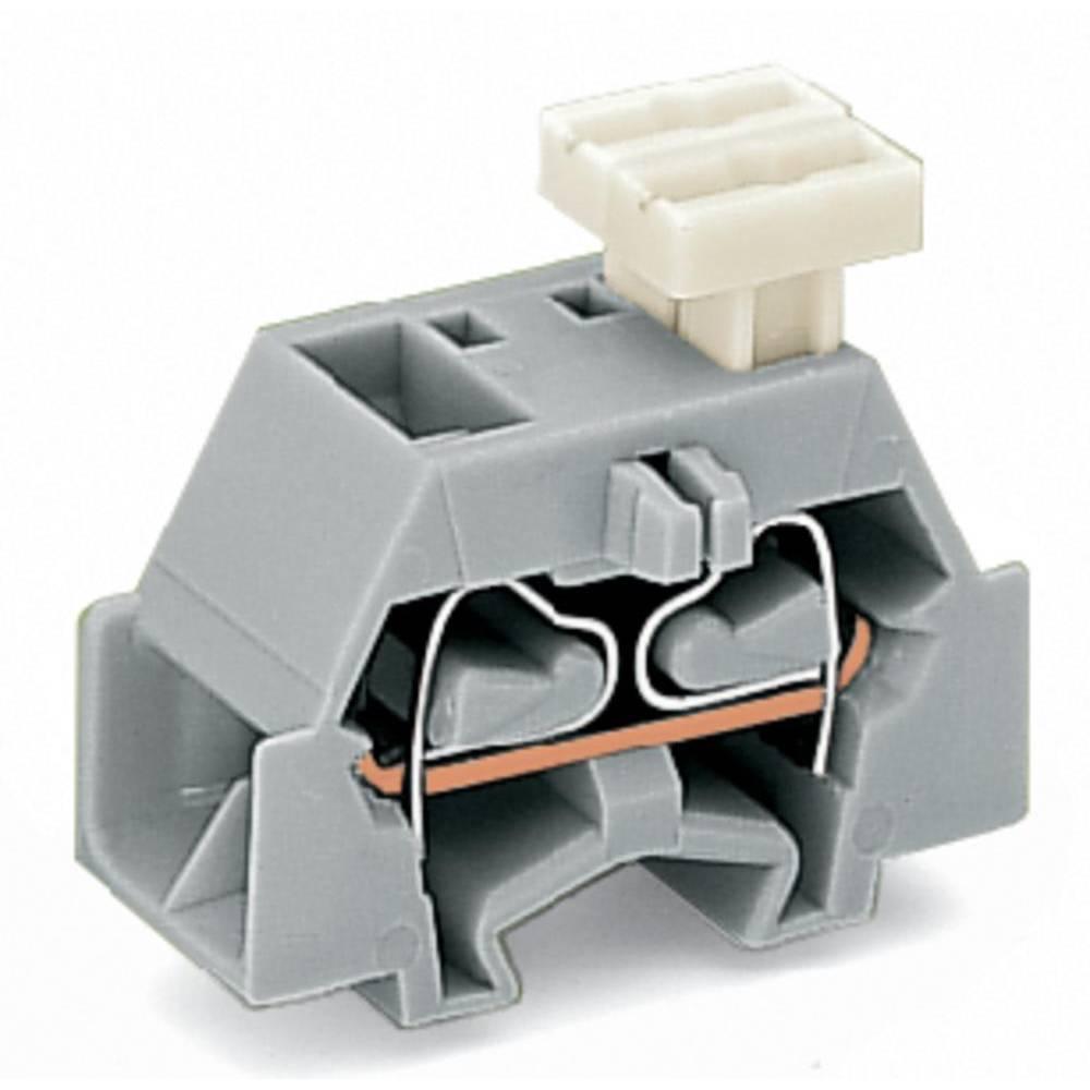 Enkelt klemme 10 mm Trækfjeder Belægning: L Grå WAGO 261-333/332-000 200 stk