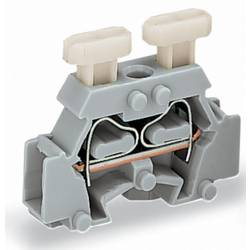 Enkelt klemme 6 mm Trækfjeder Belægning: L Grå WAGO 261-411/341-000 200 stk