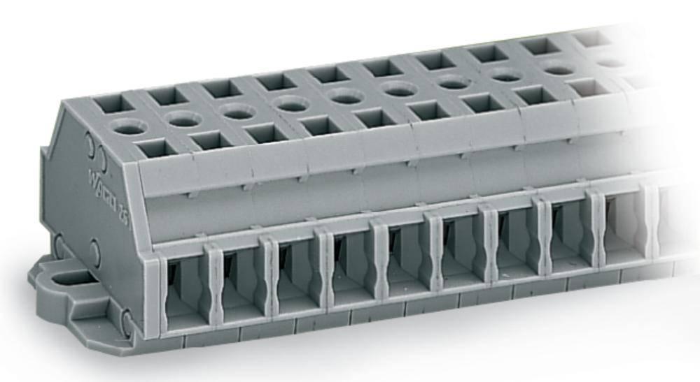 Klemmerække 6 mm Trækfjeder Belægning: L Grå WAGO 261-429 50 stk