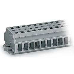 Klemmerække 6 mm Trækfjeder Belægning: L Grå WAGO 261-424 100 stk