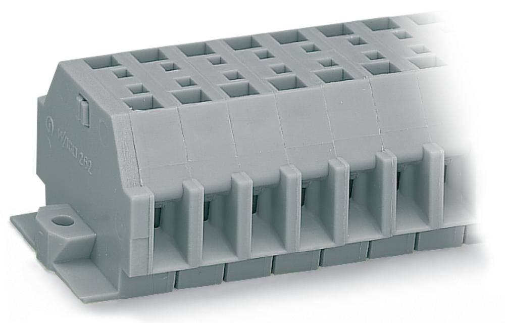 Klemmerække 7 mm Trækfjeder Belægning: L Grå WAGO 262-104 100 stk