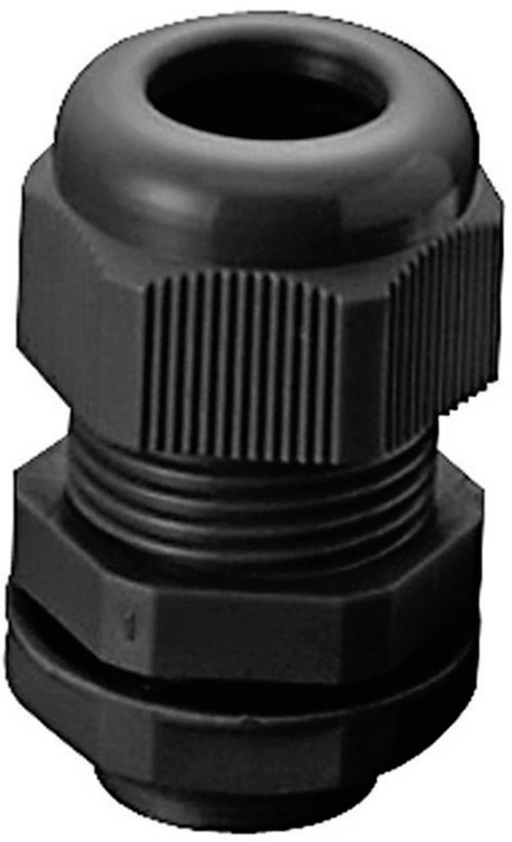 Kabelforskruning KSS AGR20 M20 Polyamid Sort (RAL 9005) 1 stk