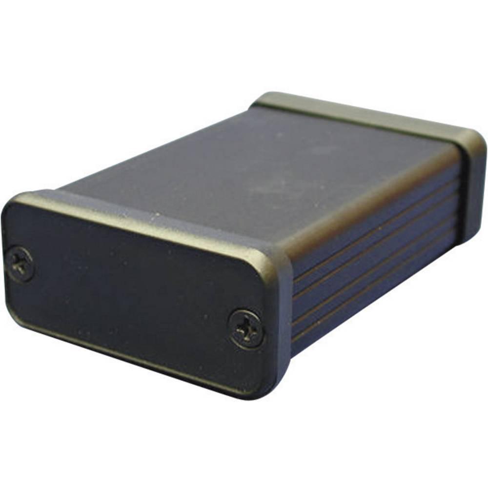 Profil-kabinet 163 x 160 x 51.5 Aluminium Sort Hammond Electronics 1455T1601BK 1 stk