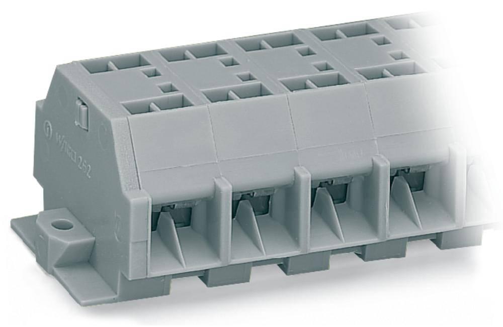 Klemmerække 12 mm Trækfjeder Belægning: L Grå WAGO 262-211 25 stk