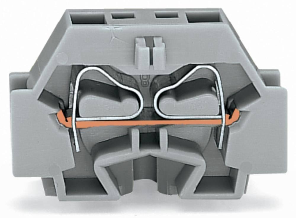 Enkelt klemme 7 mm Trækfjeder Belægning: L Grå WAGO 262-301 100 stk