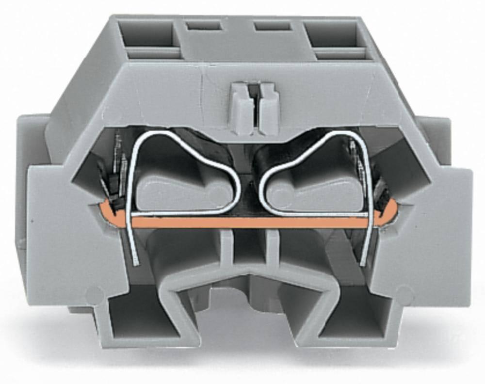 Enkelt klemme 12 mm Trækfjeder Belægning: L Grå WAGO 262-351 100 stk