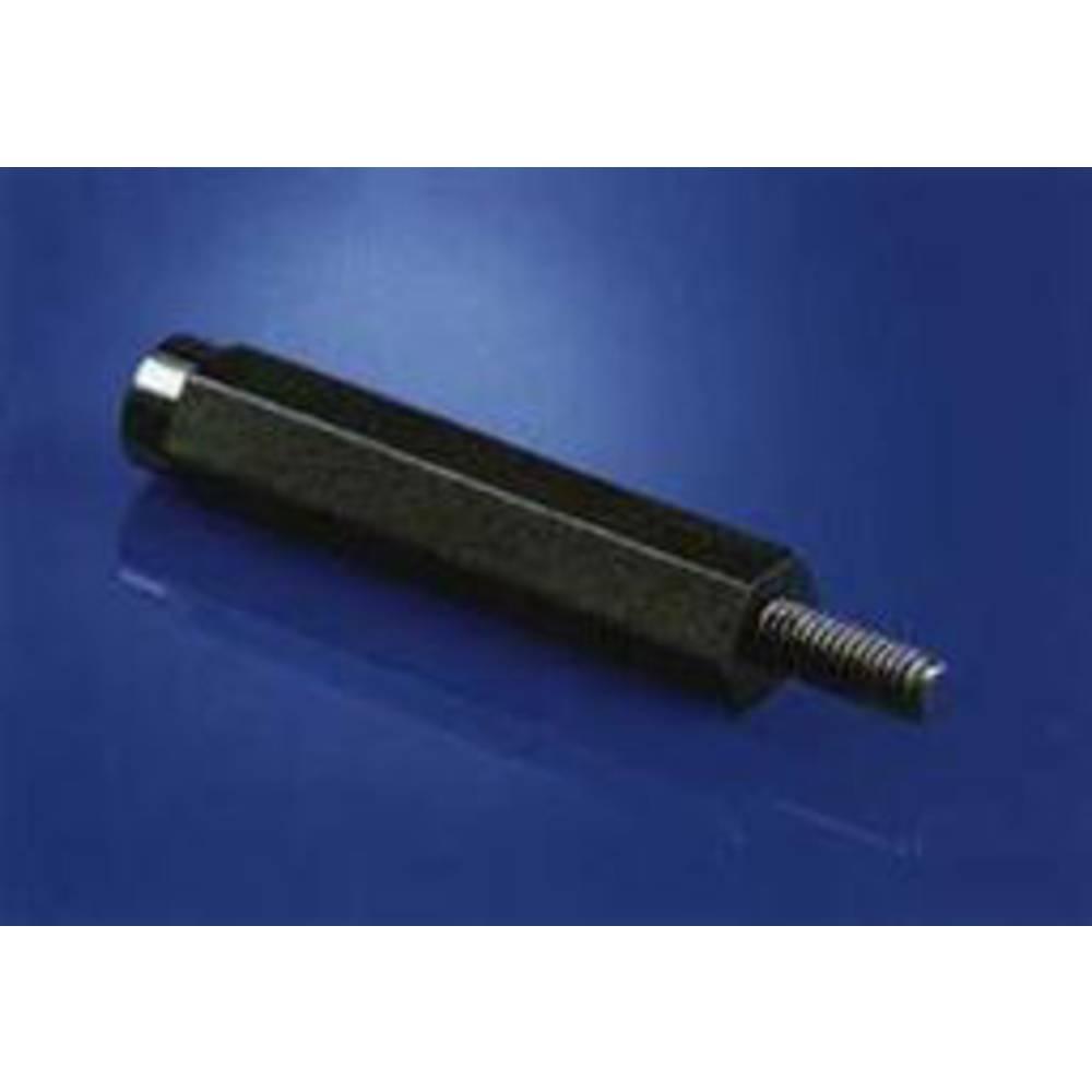 Afstandsbolte Udvendigt og indvendigt gevind M4 Polyamid Afstandsmål 15 mm 1 stk
