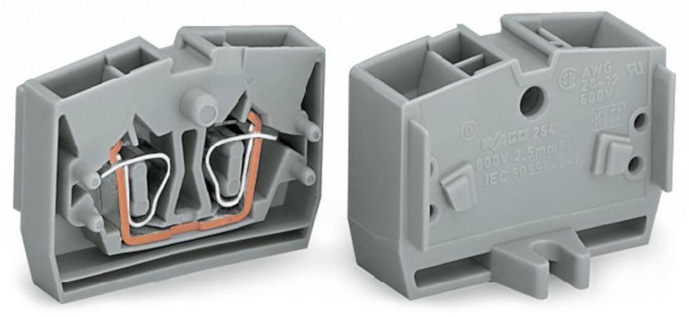 Enkelt klemme 6 mm Trækfjeder Orange WAGO 264-326 100 stk