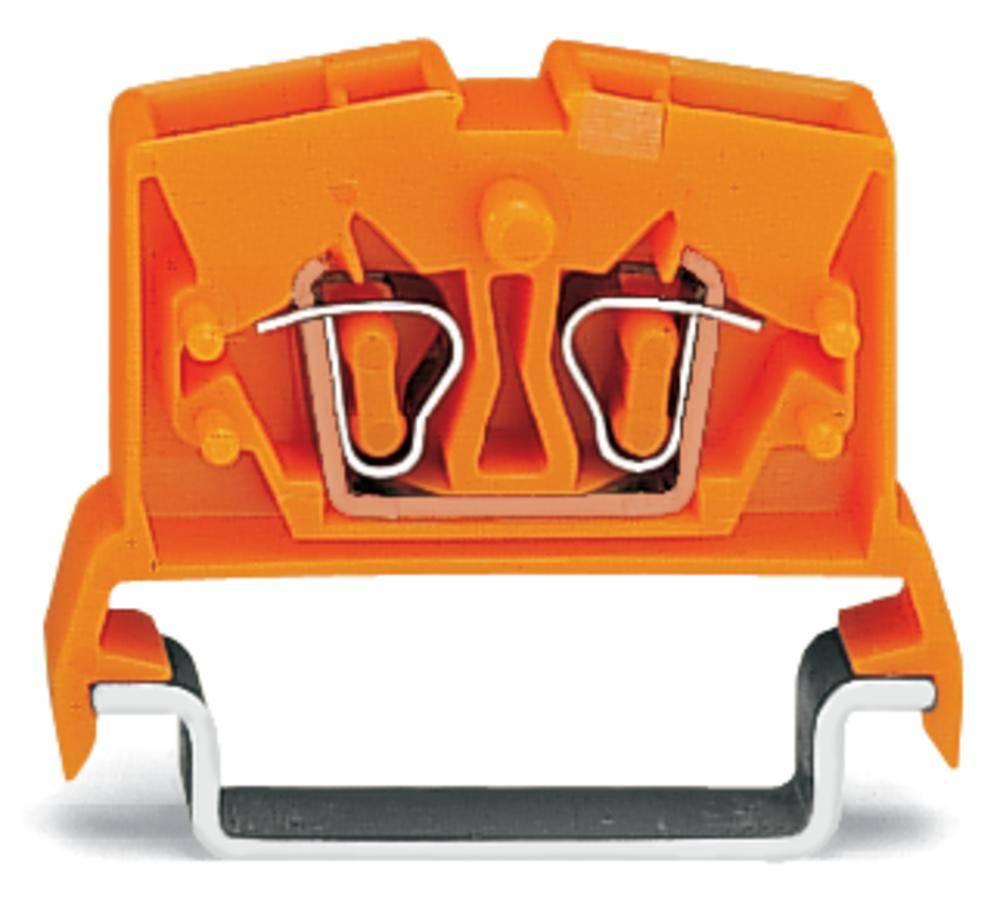 Gennemgangsklemme 6 mm Trækfjeder Orange WAGO 264-716 100 stk