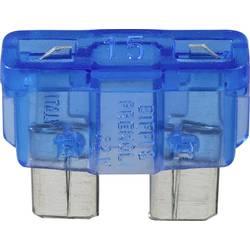 Conrad-Standardni pljosnati osigurač, automobilski/industrijski, plav, utični, 32V, 15A