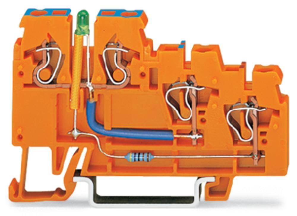 Initiator-klemme 5 mm Trækfjeder Orange WAGO 270-564/281-483 10 stk