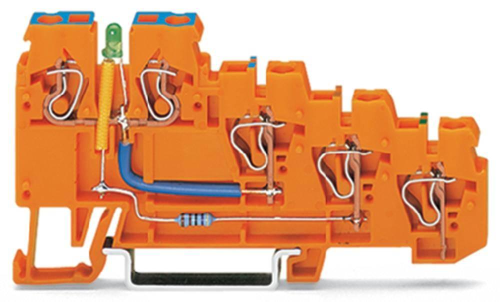 Initiator-klemme 5 mm Trækfjeder Orange WAGO 270-574/281-483 10 stk