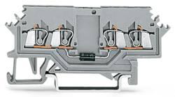 Diodeklemme 4 mm Trækfjeder Belægning: L Grå WAGO 279-623/281-411 100 stk