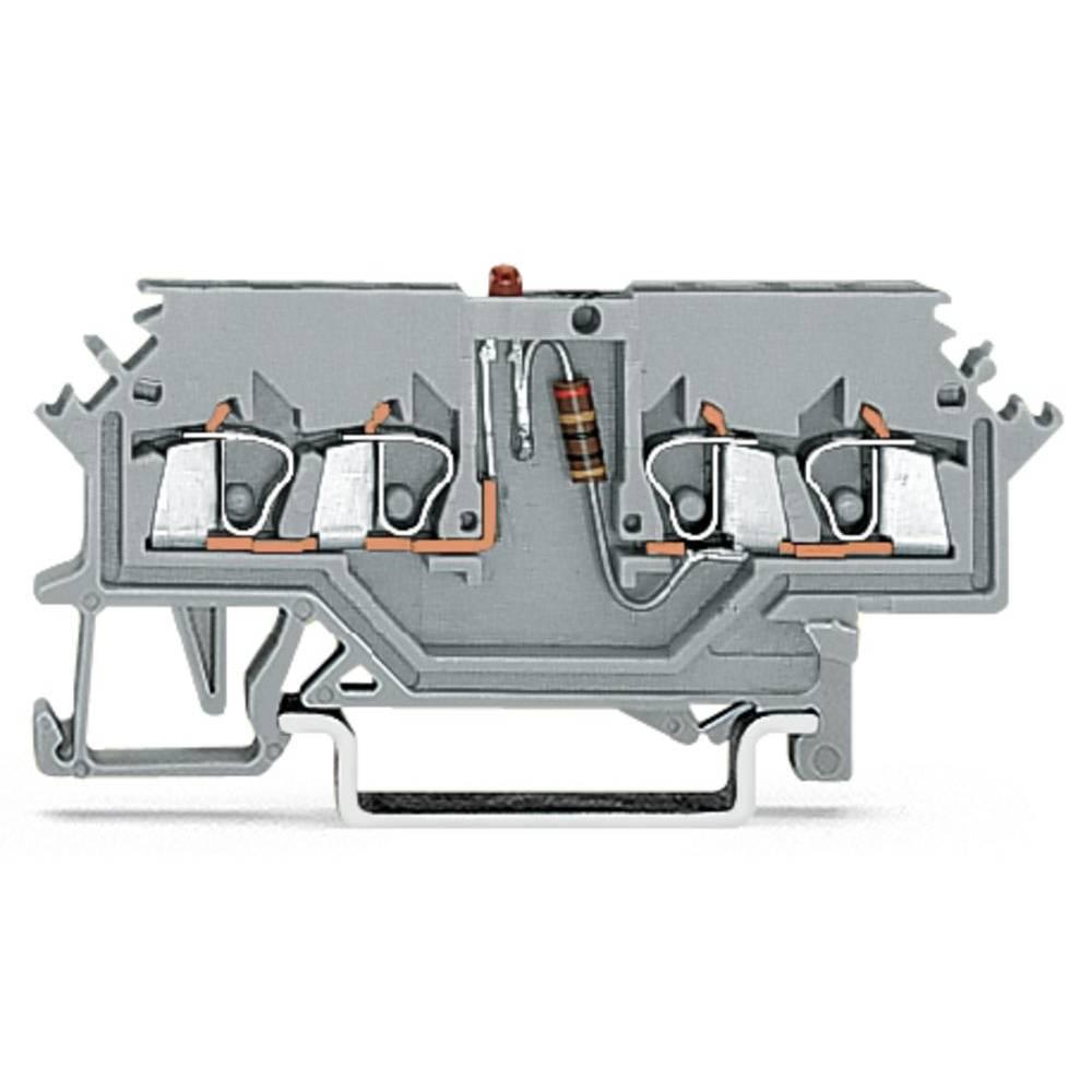 LED-klemme 4 mm Trækfjeder Belægning: L Grå WAGO 279-624/281-434 100 stk