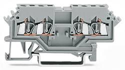Gennemgangsklemme 4 mm Trækfjeder Belægning: L Grå WAGO 279-626 100 stk