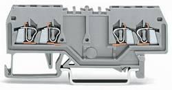 Gennemgangsklemme 4 mm Trækfjeder Belægning: L Grå WAGO 279-826 100 stk