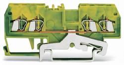 Jordklemme 4 mm Trækfjeder Belægning: Terre Grøn-gul WAGO 279-837 100 stk