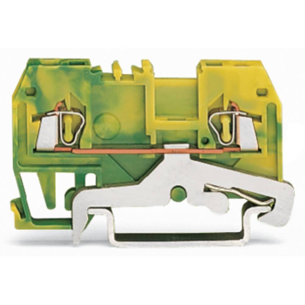 Jordklemme 4 mm Trækfjeder Belægning: Terre Grøn-gul WAGO 279-907/999-950 100 stk