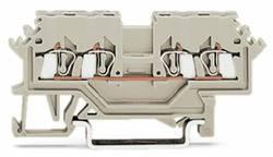 Gennemgangsklemme 4 mm Trækfjeder Belægning: L Grå WAGO 279-990 100 stk