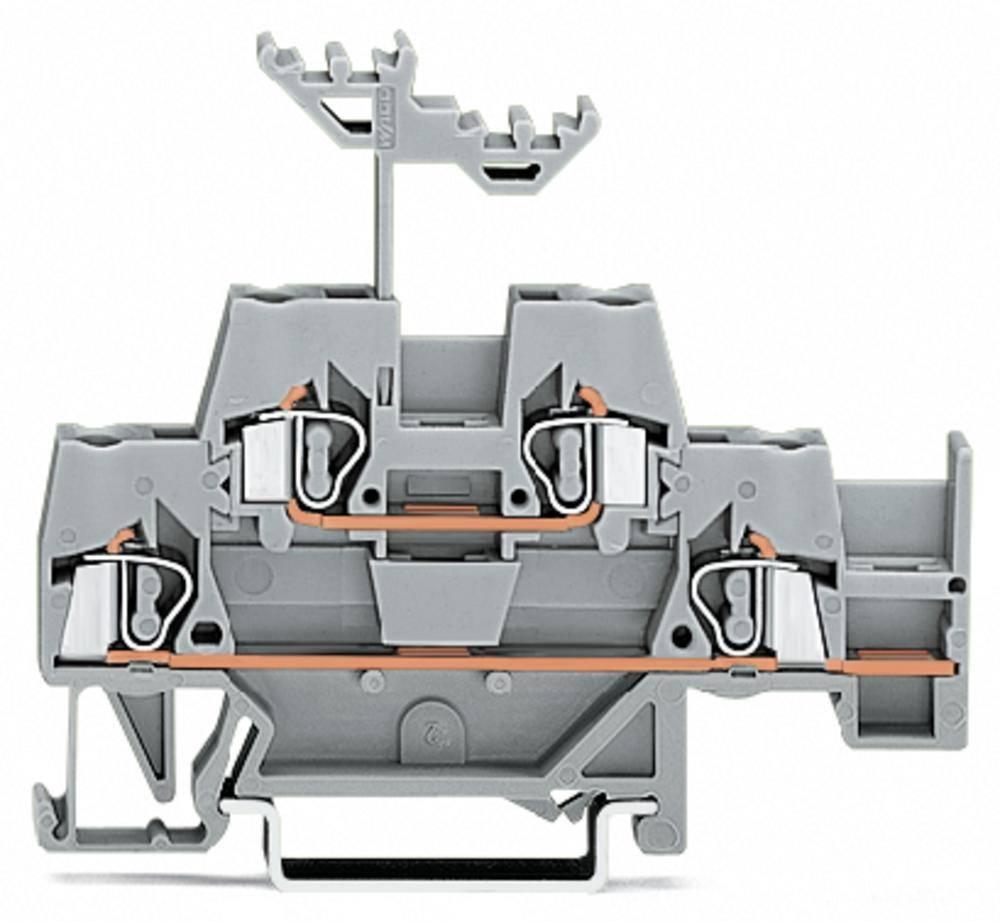 Dobbeltlags-gennemgangsklemme 5 mm Trækfjeder Belægning: L Grå WAGO 280-542 50 stk