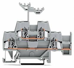 Dobbeltlags-gennemgangsklemme 5 mm Trækfjeder Belægning: L Grå WAGO 280-520 50 stk