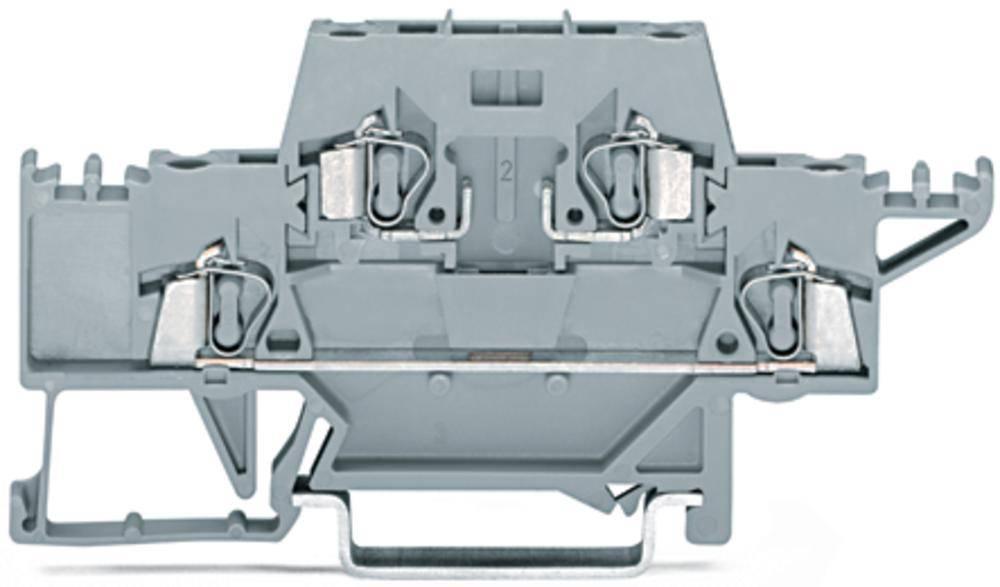 Dobbeltlags-gennemgangsklemme 5 mm Trækfjeder Belægning: L Grå WAGO 280-528 50 stk