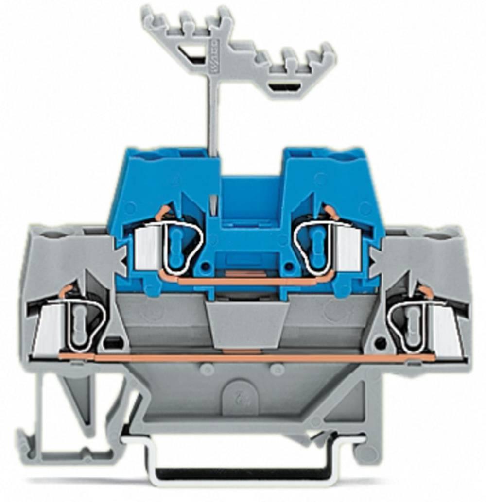 Dobbeltlags-gennemgangsklemme 5 mm Trækfjeder Grå, Blå WAGO 280-533 50 stk