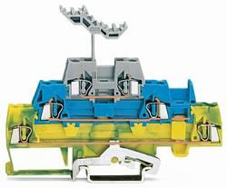 Trippel-gennemgangsklemme 5 mm Trækfjeder Grøn-gul, Blå , Grå WAGO 280-547 40 stk