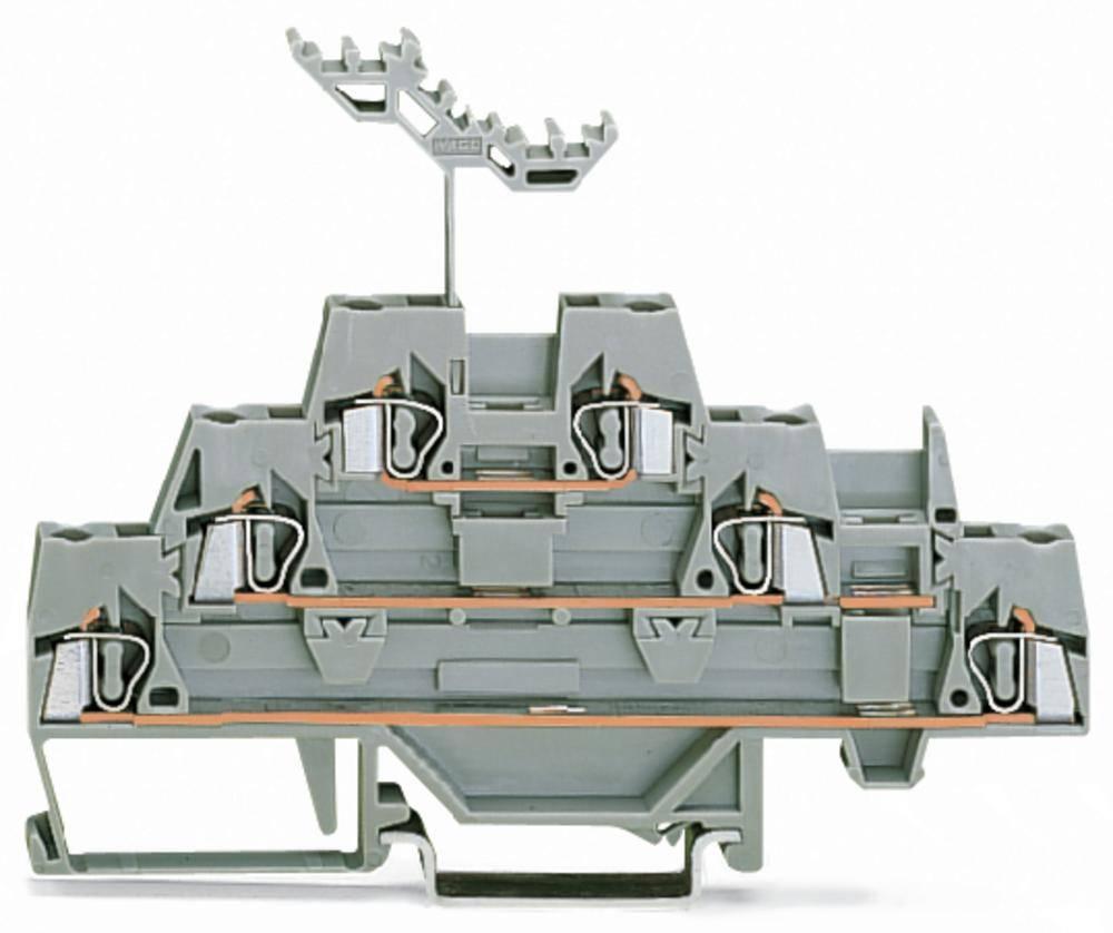 Trippel-gennemgangsklemme 5 mm Trækfjeder Belægning: L Grå WAGO 280-549 40 stk