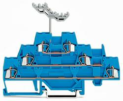 Trippel-gennemgangsklemme 5 mm Trækfjeder Belægning: N Blå WAGO 280-551 40 stk