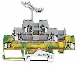 Trippel-gennemgangsklemme 5 mm Trækfjeder Grøn-gul, Grå WAGO 280-557 40 stk