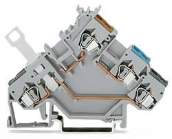 Skilleklemme 5 mm Trækfjeder Belægning: L Grå WAGO 280-563 50 stk