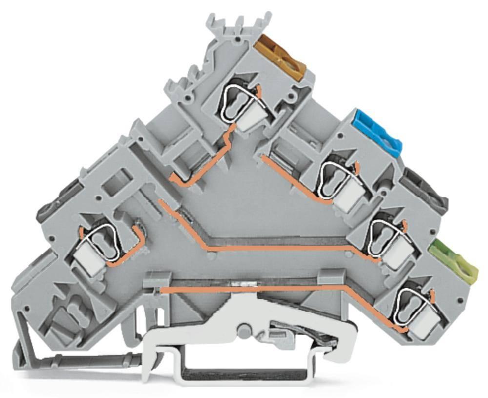Initiator-klemme 5 mm Trækfjeder Belægning: L Grå WAGO 280-571 50 stk