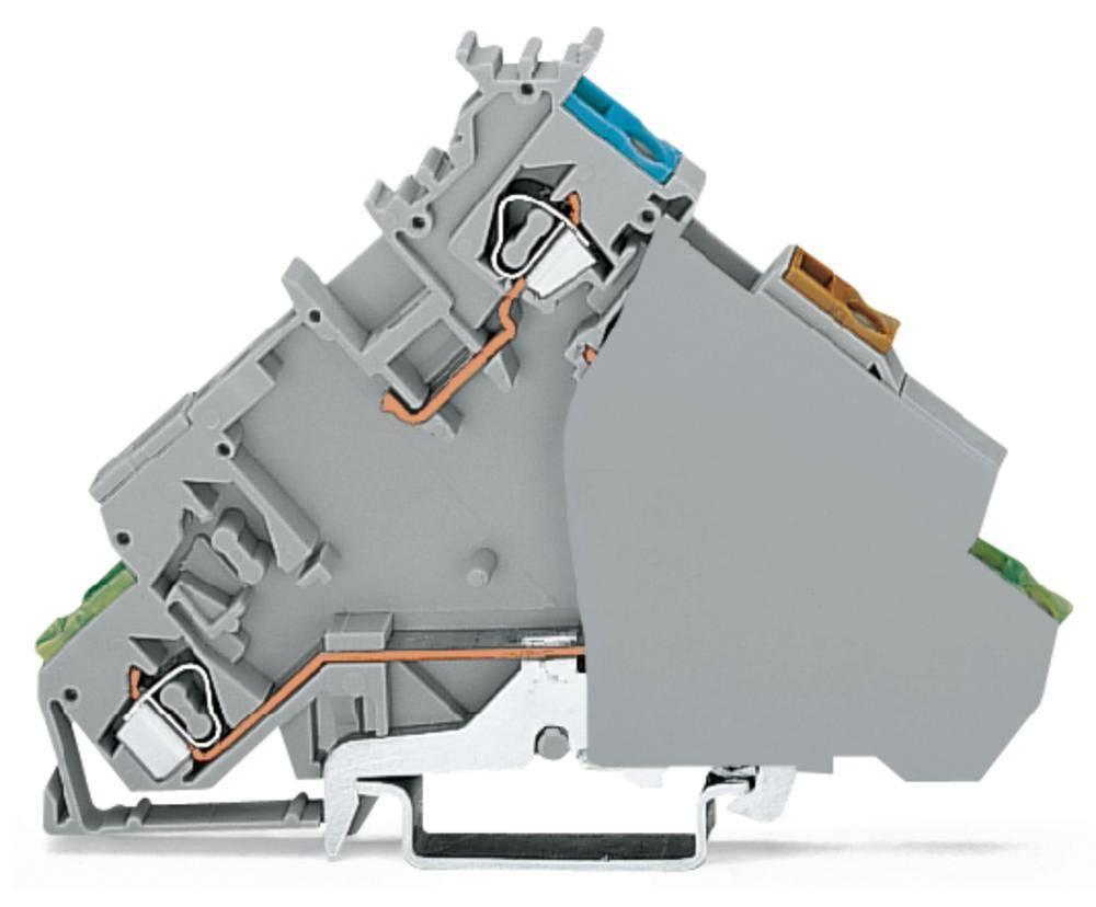 Initiator-klemme 6 mm Trækfjeder Belægning: L Grå WAGO 280-577 20 stk