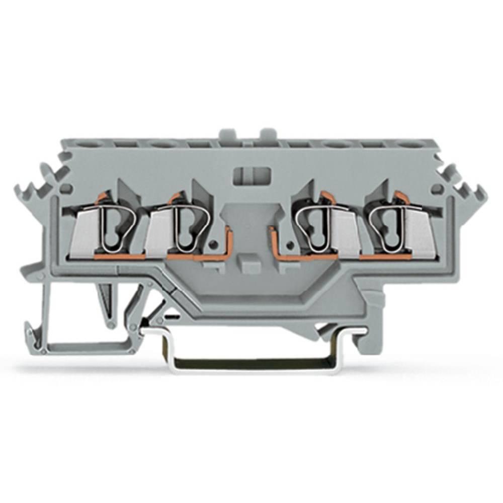 Basisklemme 5 mm Trækfjeder Belægning: L Grå WAGO 280-686 100 stk