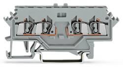 Basisklemme 5 mm Trækfjeder Belægning: L Grå WAGO 280-606 100 stk